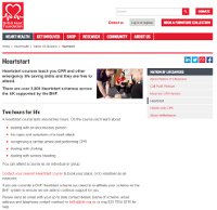 Heartstart Course Page Screenshot