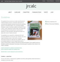 Screenshot of JRCALC Guidelines Site