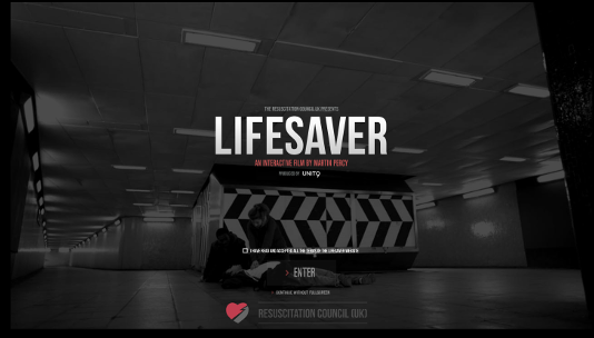 Screenshot of lifesaver homepage