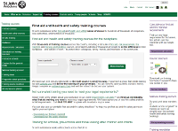 Screenshot of SJA Training Course Page